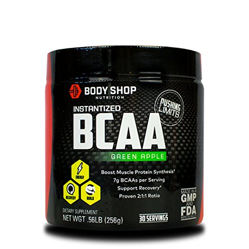 Cheap Body Shop Nutrition Instantized 2:1:1 BCAA Powder – Green Apple – 30 Servings – Non-GMO Workout Powder