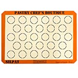 Sasa Demarle Silpat MACARONS Premium Non-Stick Silicone Baking Mat, Big Sheet Pan Size (2/3 Sheet Pan), 13.58''x 19.5'' for a 15''x21'' Sheet Pan - 28 Circles - by Pastry Chef's Boutique