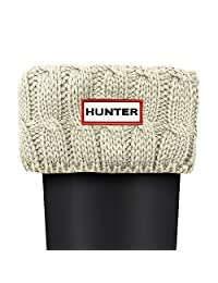Hunter 6 Stitch Cable Boot Sock M Natural White