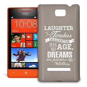 Phone Case For HTC 8S - Kraft Laughter is Timeless Walt Disney Quote Designer Premium