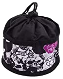Doggles Foldable Travel Bowl, Black Skull Roses – Large, My Pet Supplies