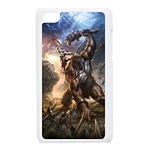 Generic for iPod Touch 4 Case White God Of War Custom HSKDKKALL2005