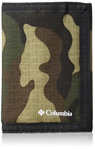Columbia Tactical Wallets for Men - Sport RFID Blocking Nylon Trifold with Velcro with ID Window and Cash Pockets,Camo,One -