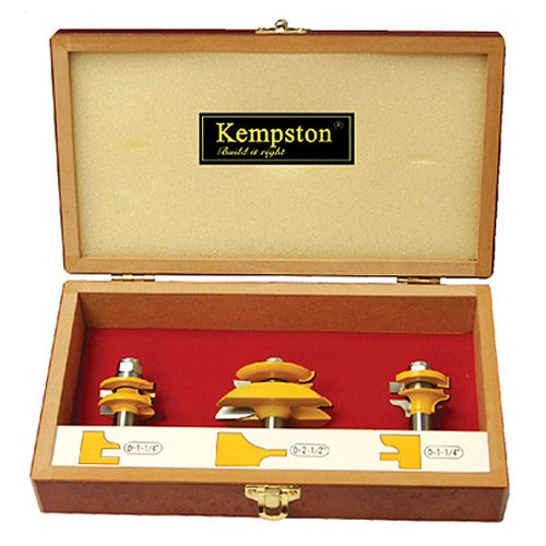 Kempston KC5033 Traditional Ogee Miniature Raised Panel Set, 3-Pieces
