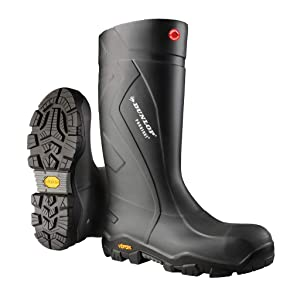 Dunlop Protective Footwear EC02A3312 Purofort Expander Full Safety Boots with Slip-Resistant Vibram Rubber Sole and Steel Toe, 100% Waterproof, Lightweight and Durable Protective Footwear, Size 12