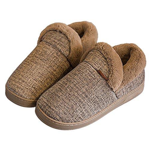Cybling Zapatillas De Interior Para Mujer Con Forro De Piel Zapatillas De  Casa Suaves Antideslizantes Y
