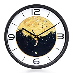Egundo Silent 12 Inches Wall Clock Vintage Large Round Country Style Quartz Metal Battery Operated Analog Clock Decoration for Home Office and School