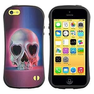 Be-Star Impreso Colorido Diseño Antichoque Caso Del Iface Primera Clase Tpu Carcasa Funda Case Cubierta Par Apple iPhone 5C ( heart pink blue skull skeleton death )