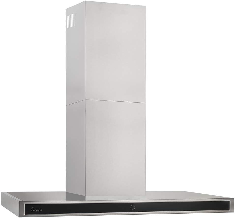 Campana extractora profesional de pared (90 cm, acero inoxidable, cristal negro, 4 escalones, iluminación LED, teclas de sensor TouchSelect, desbordamiento automático) DELTA9014TC - KKT KOLBE: Amazon.es: Hogar