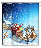 Christmas Curtains Chunyi Merry Christmas Bathroom Decoration Polyester Fabric Shower Curtains Liner 7272