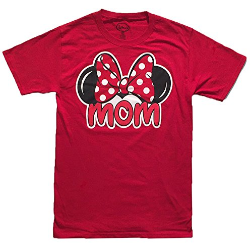 (Disney Womens Minnie Mouse Mom Fan T Shirt (Large (12-14),)