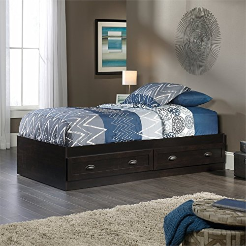 Sauder 419444 County Line Mate's Bed, Twin, Estate Black finish
