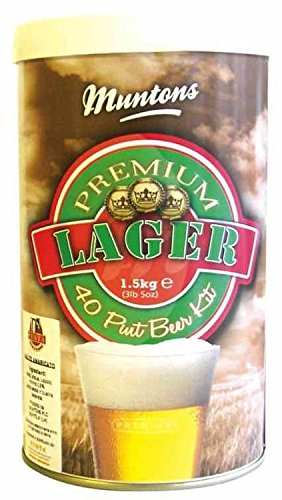 [Muntons Premium Lager Beer Making Kit, 53-Ounce Can] (Hopped Extract)
