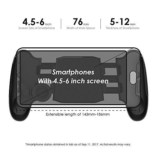 51lAJ4KvOpL - GameSir F1 Controller Handle Holder Handgrip Handle Grip Case with Joystick for Mobile Phone, Ergonomic Design to Improve Grip and Comfort, Support 4.5''-6.5'' Smartphone(Black)