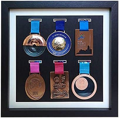 Caja expositora Insignias Caja exhibición medallas Marco de Fotos Original Tipo Caja,para Las medallas Militares/Medalla del colector/Pin de la Solapa Vitrina del gabinete de la Caja de la Sombra: Amazon.es: Hogar
