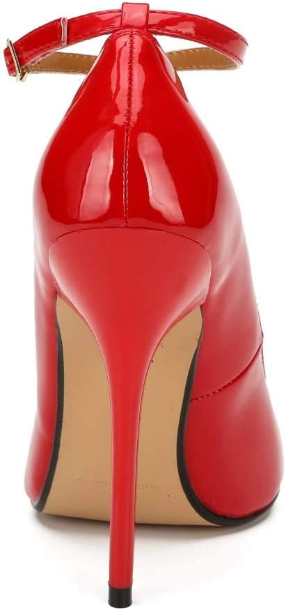 Stiletto Ha Grandi Dimensioni Tacco Alto Red