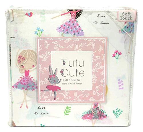 Tutu Cute Love to Dance Pretty Ballerina Girls Full Size Sheet Set