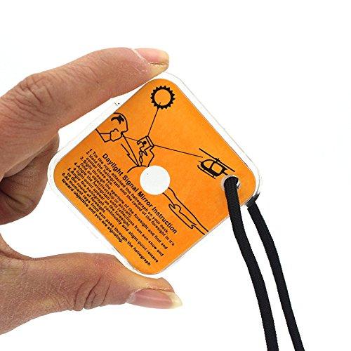 LEEBA 1/Pcs Facile et Pratique en Plein air Camp de Survie Miroir Field de Survie Pratique Sifflet Sos Premier Secours Accessoires