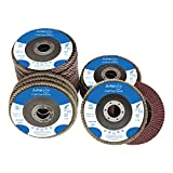 """amoolo 20 Pack Flap Discs 40/60/80/120 Grit Grinding Wheel 4.5"""" x 7/8"""" High Density Bevel Type Angle Grinder Sanding Disc Abrasive Grinding Disc Type #29"""