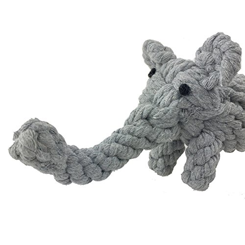 Pet Puppy Dog Cotton Rope Chew Toys for Teeth Cleaning, Elephant Design by -