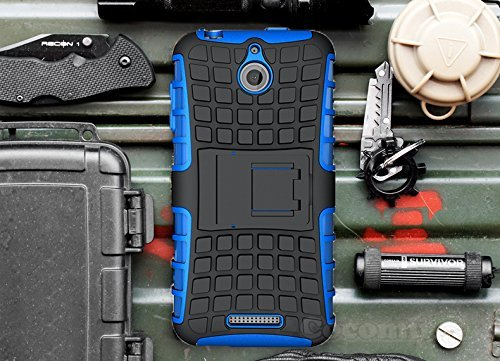 r HTC Desire 510 Case New [Heavy Duty] Premium Tactical Grip Kickstand Shockproof Hard Bumper [Military Defender] Full Body Dual Layer Rugged Cover for HTC Desire 510 (G.Blue) ()