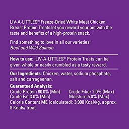 Halo Liv-A-Littles Holistic Freeze Dried Dog Treats and Cat Treats, 2.2 OZ of Freeze Dried Chicken