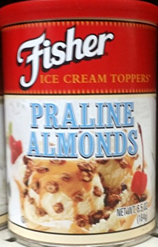 Fisher Ice Cream Toppers, Praline Almonds 6.5 Oz (Pack of 3)