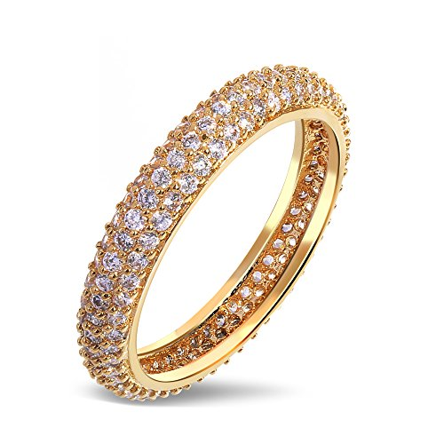Tiffany Bangle Ring - GDSTAR rings for women Bangle rings s Copper Ring gold plated with Cubic zircon Ringsring fine jewelrybest friend 10.0