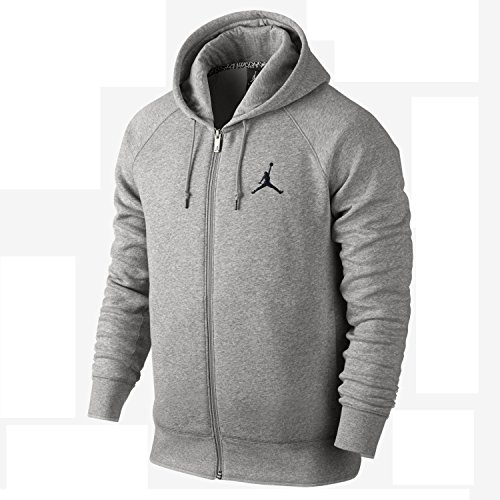 Nike Men's Air Jordan Jumpman Full-Zip Fleece Hoodie 845861-063 (Jordan Fleece Hoody)