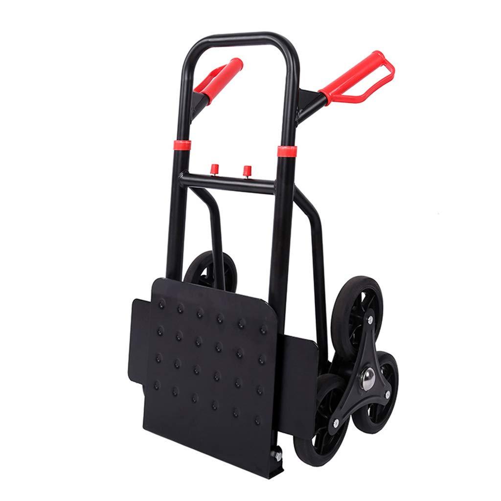 ショッピングキャリー ショッピングカート クライミング 貨物トラック/トロリー 多機能トロリー車 160kgに耐えることができます (Color : Black, Size : 114*45*60cm) B07L1QDRXH Black 114*45*60cm