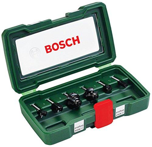 Bosch 6pcs 6mm Router Bit Set