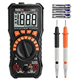 Digital Multimeter, Tacklife DM08 Multimeters Measuring Battery Voltage(1.5V, 6V, 9V, 12V), Auto-Ranging, Non-contact Voltage Detect with Large LCD Backlight, Flashlight