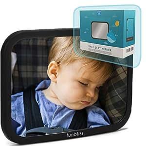 Espejo retrovisor para asiento trasero de beb de funbliss for Espejo retrovisor coche bebe
