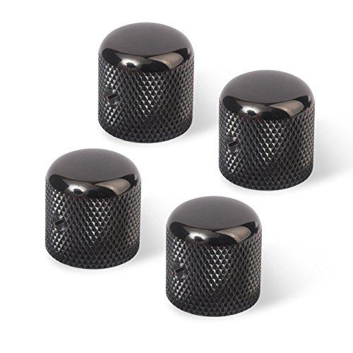 Golden Age Dome Knob, Black, 6mm shaft - 4 pack ()