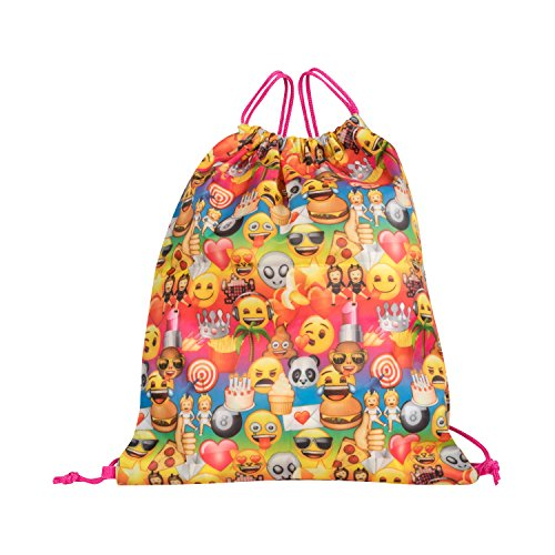 Emoji Yellow16 inch Backpack Back to School Essentials Set for Girls by FAB Starpoint (Image #3)