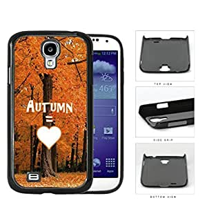 Autumn Equals Love With Beautiful Orange Tree Forest Samsung Galaxy S4 I9500 Hard Snap on Plastic Cell Phone Cover
