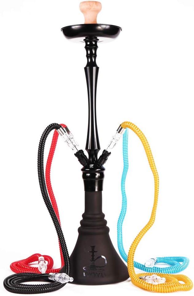 Medusa Hookah, shisha Arabian Hookah Aleación de aluminio encendida fumadora Cuatro personas Hookah,Black