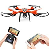 Holy Stone HS130 Wifi FPV Drone with Adjustable HD Video Camera RC Quadcopter with Altitude Hold, App Control,3D VR Headset Compatible, RTF and Easy to Fly for Beginner and Expert, Color Orange