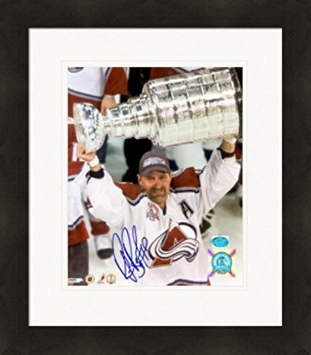 - Autographed Bourque Photograph - 8x10 Holding the Stanley Cup Matted & Framed - Autographed NHL Photos