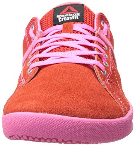 Reebok RCF Lite Lo TR Cnvs Lona Zapatos Deportivos China Red/Electro Pink/Steel