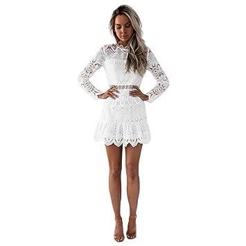 Vestido de Fiesta de Encaje Mujer, LILICAT® Vestido Elegante Cóctel De Boda Noche de