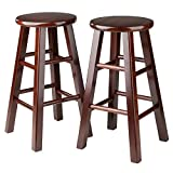 #6: Winsome 24-Inch Square Leg Counter Stool, Set of 2