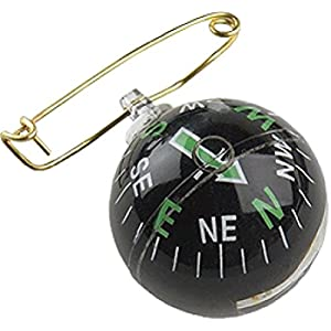 Allen Co 484 Pin On Liquid Filled Compass, black