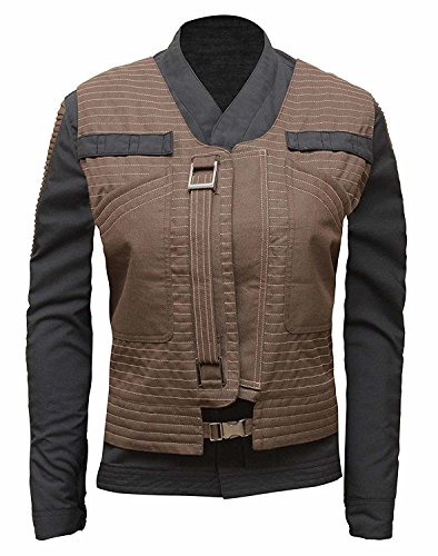Jyn Erso Star Wars Cosplay Womens Jacket with Vest | S -