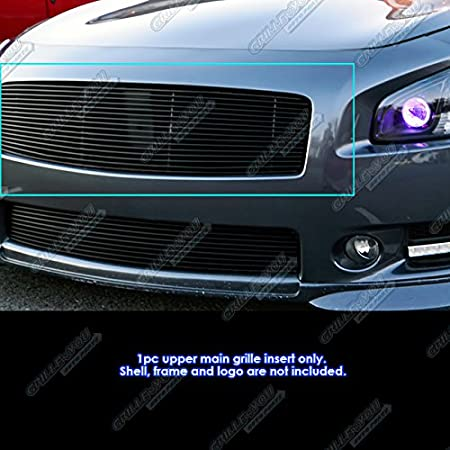 Fits 2009-2014 Nissan Maxima Upper Black Stainless Steel Billet Grille Insert #N85218J APS