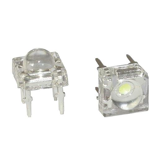 12V Widerstand 12V rote Diode 2 Pin LEDs Lumetheus LED 10mm Farbe rot 5000 mcd 20 St/ück Leuchtdioden 3V