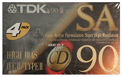 TDK SA90 High Bias IecII/TypeII 4 Pack Blank ()