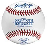 Rawlings Raised Seam Baseballs, Dixie Youth League Competition Grade Baseballs, 12 Count, RDYB1