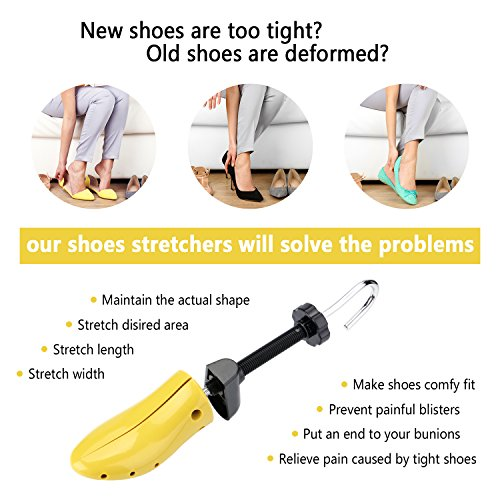 Minerva Pair of Premium Unisex Shoe Stretcher with Instructions, 2-way Adjustable Plastic Shoe Trees for Men and Women (Large) by Minerva (Image #1)