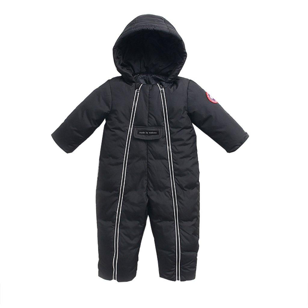 Bambino Pagliaccetti Incappucciati Snowsuits Tuta Abiti Invernali Cerniere Doppie Anteriore